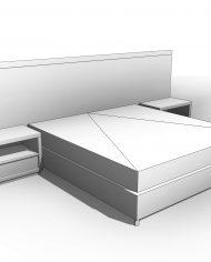 arquibed02 – 3D View – Coarse Hidden Line