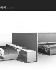 arquibed02 – Sheet – 3 – Hidden line Perspective