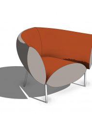 arquichair05 – 3D View – Coarse Consistent colors