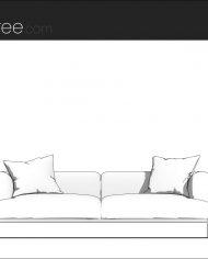 arquisofa09 – Sheet – 3 – Hidden line Front Elevation