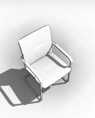 arquichair04 – 3D View – Coarse Hidden Line