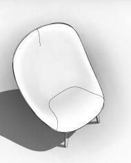 arquichair10 – 3D View – Coarse Hidden Line
