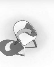 arquichair15 – 3D View – Coarse Hidden Line