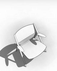 arquichair16 – 3D View – Coarse Hidden Line