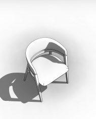 arquichair18 – 3D View – Coarse Hidden Line