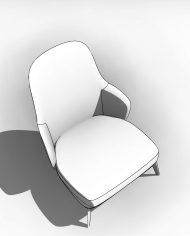 arquichair19 – 3D View – Coarse Hidden Line