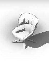 arquichair22 – 3D View – AXO hidden