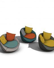 arquichair27 – 3D View – Coarse Consistent colors