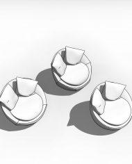arquichair27 – 3D View – Coarse Hidden Line