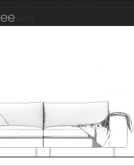 arquisofaset12_Simple – Sheet – 1 – Hidden line Side Elevation