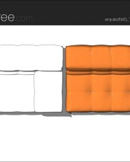 arquisofa10_Tufty Too_T177BD_3N+blanket – Sheet – 5 – Hidden line and realistic plan views