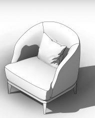 arquichair32 – 3D View – AXO hidden