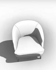 arquichair32 – 3D View – Coarse Hidden Line