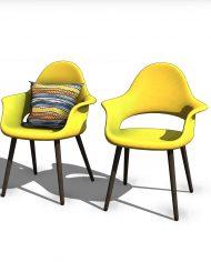arquichair33 – 3D View – Coarse Consistent colors