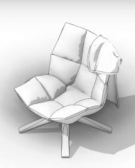arquichair38 – 3D View – AXO hidden