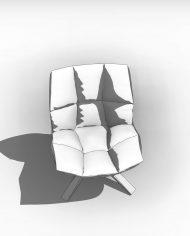arquichair38 – 3D View – Coarse Hidden Line