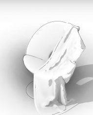 arquichair40 – 3D View – AXO hidden