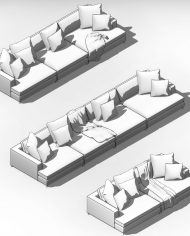 arquisofa13 – 3D View – AXO hidden
