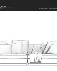arquisofa13_2P – Sheet – 3 – Hidden line Front Elevation