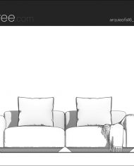 arquisofa16 – Sheet – 3 – Hidden line Front Elevation