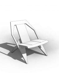 arquichair42 – 3D View – Coarse Hidden Line