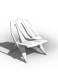 arquichair42 – 3D View – Fine Hidden Line