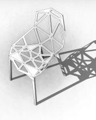 arquichair47 – 3D View – Coarse Hidden Line