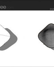 arquichair49 – Sheet – 3 – Hidden line and realistic plan views