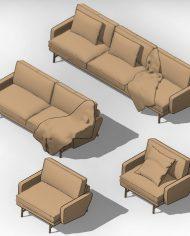 arquisofa18 – 3D View – AXO hidden Copy 1