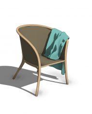 arquichair59 – 3D View – Medium Realistic no Edges