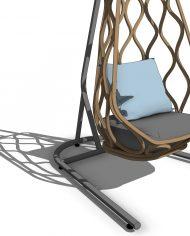 arquichair61 – 3D View – Medium Realistic no Edges
